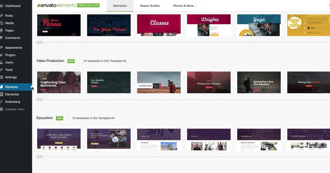 Envato Elements WordPress