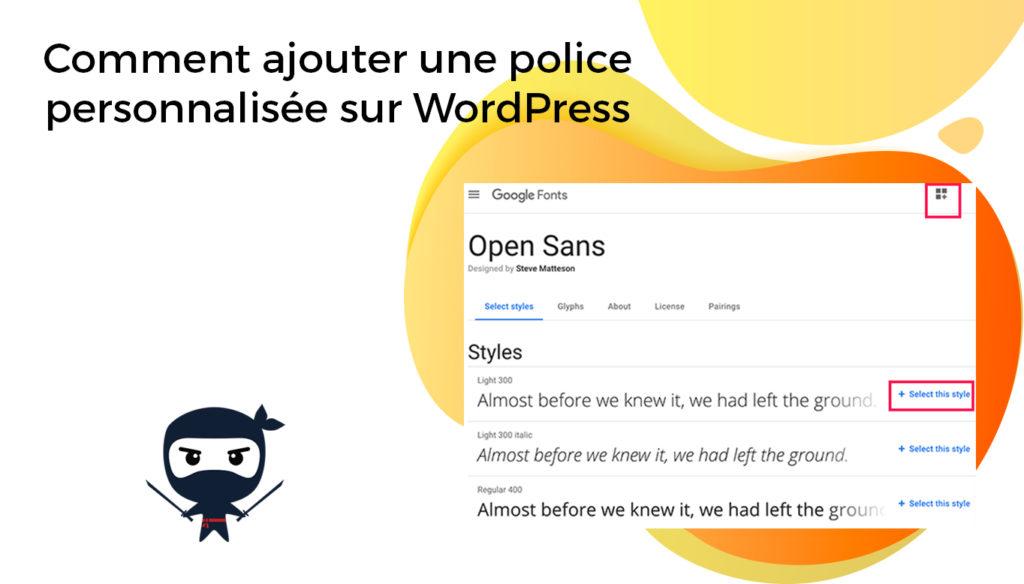 Comment ajouter une police personnalisée sur WordPress
